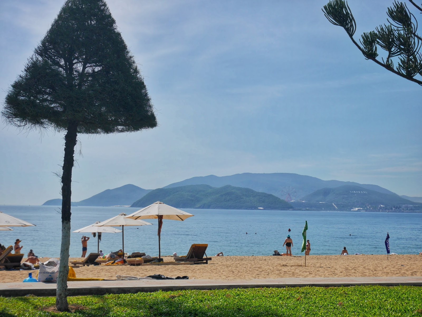 the beach in Nha Trang, Vietnam