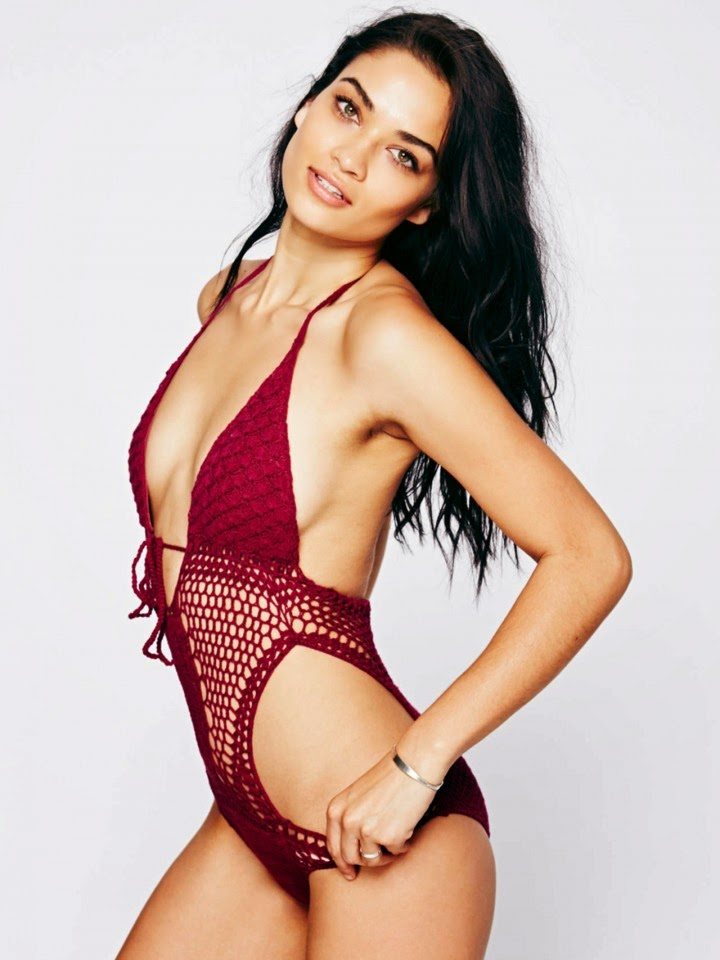 Free People Swimwear Lookbook 2014 featuring Shanina Shaik