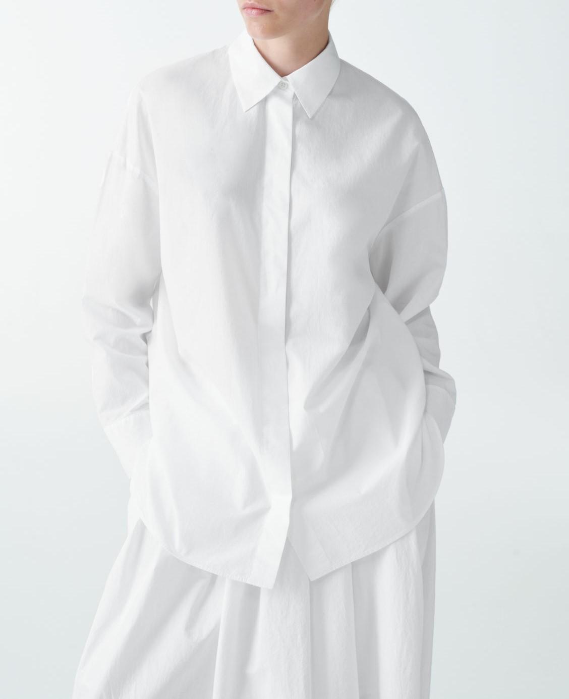 round cut cotton shirt