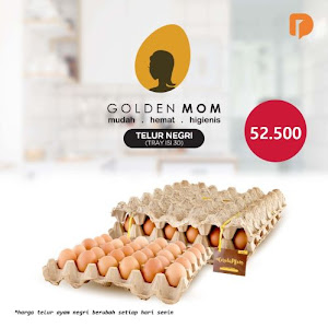 Golden Mom Telur Ayam Negri Isi 30 Butir