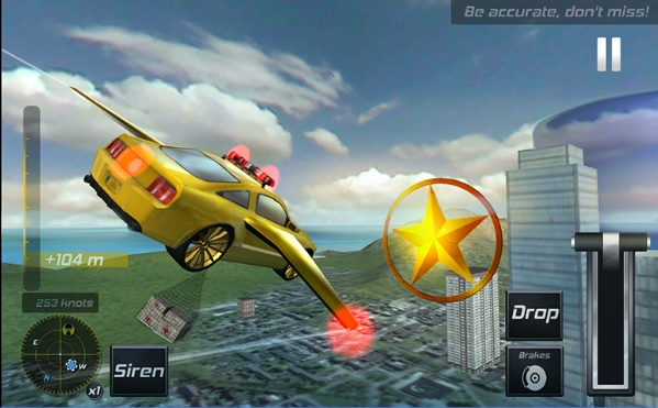 Download Flying Police Car