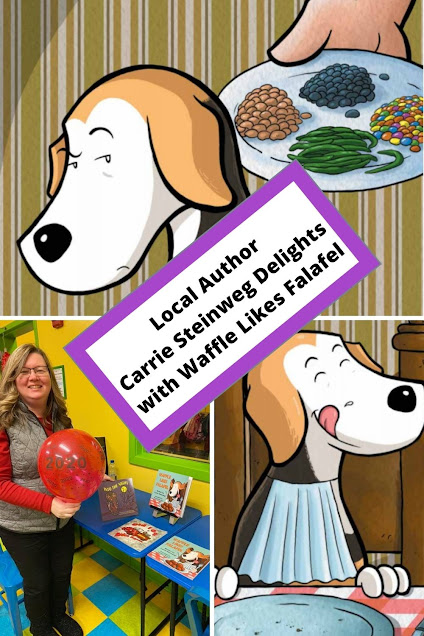 Local Author  Carrie Steinweg Delights  with Waffle Likes Falafe