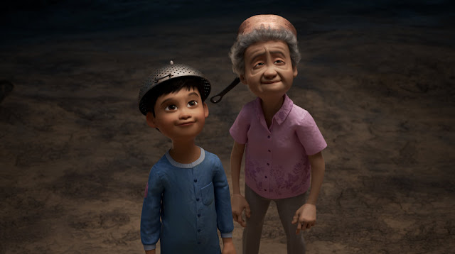 Pixar Wind boy and grandmother