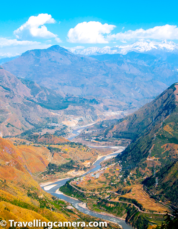 MTB Himalaya route is very special with diverse terrains to challenges technical skills and physical stamina of riders participating in this Mountain Terrain Biking race. Above photograph shows an aerial view of Satluj river navigating through huge mountains of Himachal Pradesh. The road from which this photograph is clicked was pretty scary and a local road connecting lot of villages with main highway connecting Shimla with Spiti Valley. This is just a sample photograph. During 8 days, you get to see countless views which are better than each other in one way or another.  This photograph was clicked during another lunch break when first rider had reached the break point. I clearly remember Ajay Pandit Chhetri was first rider to reach the mid day milestone. This guy literally flies on his bike. We had lot of time, so sat together to chat about his biking journey while facing this grand view, you see in above photograph. The photograph you see on left side is clicked around same spot and he is Ajay Pandit Chhetri, winner of MTB Himalaya that year.