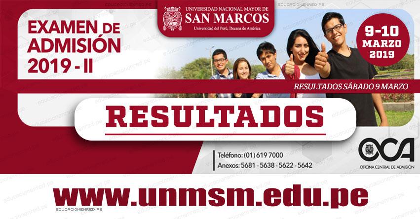 Resultados UNMSM 2019-2 (Sábado 9 Marzo) Lista de Ingresantes Examen de Admisión - Áreas Ciencias de la Salud - Ciencias Básicas - Ciencias Económicas y de la Gestión - Universidad Nacional Mayor de San Marcos - www.unmsm.edu.pe