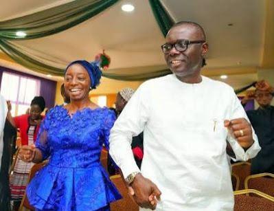 Governor Sanwo-Olu and Wife Celebrate