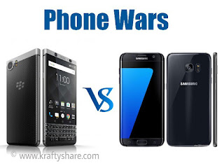 Blackberry KEYone vs Samsung Galaxy S7 Edge