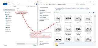 instal font di Windows 10, begini caranya