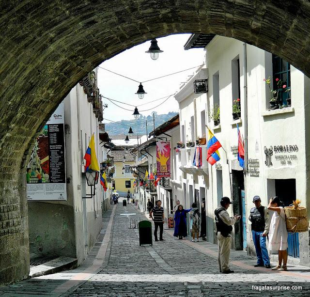 La Ronda, rua boêmia do Centro Histórico de Quito