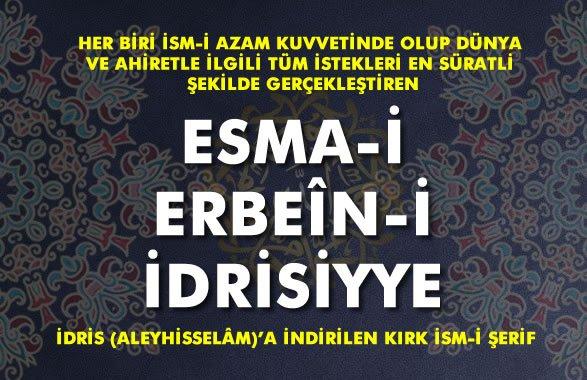 40 Esma-i Erbain-i İdrisiyye Duası, Anlamı ve Fazileti