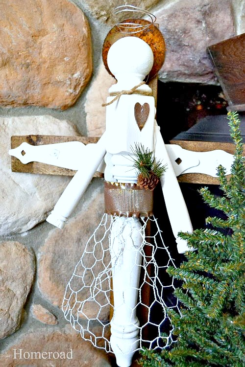 How to Make a DIY Junky Angel From Furniture Parts. Homeroad.net