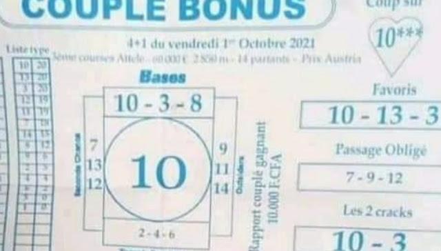 Pronostic quinté vendredi Paris-Turf TV-100 % 01/10/2021