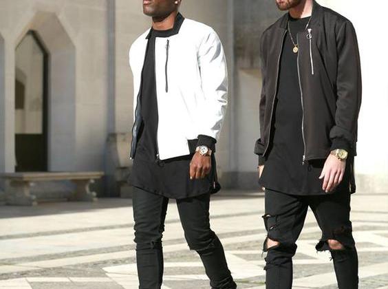 look masculino preto e branco
