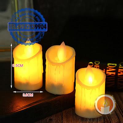 Đèn cầy led mini tim đèn dao động