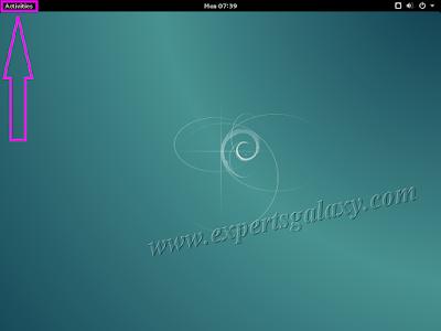Debian Linux Main Screen