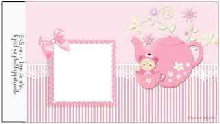Etiquetas de Bebé Niña en Rosa para imprimir gratis.