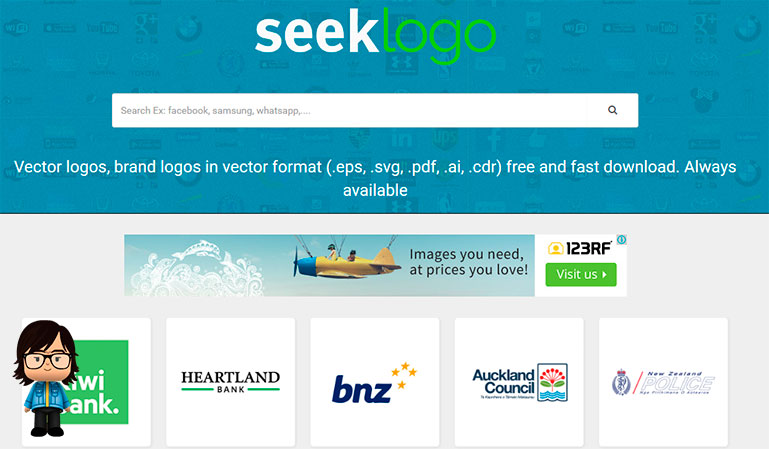 Seek logos vectorizados gratis