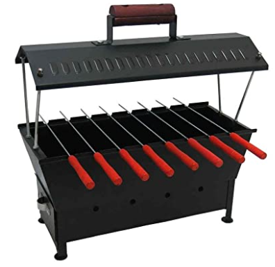 Fabrilla Hut Shaped Compact Charcoal Barbeque Grill Set