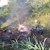 ESTREITO: Caminhão pega fogo em acidente na Transamazônica