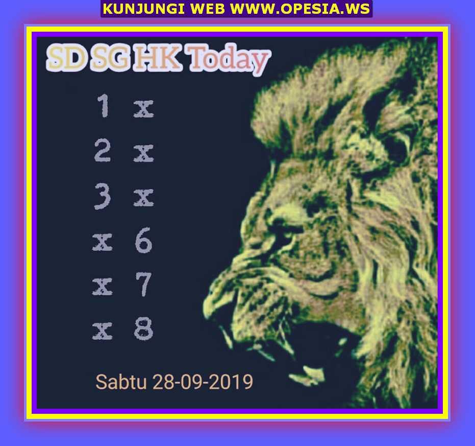 Syair sgp Sabtu 28 September 2019 15