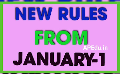 New Rules from January 1
