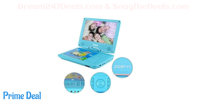 40%OFF  Portable DVD Player for Kids with 9 Swivel Screen, Car Headrest Mount Holder(blue)