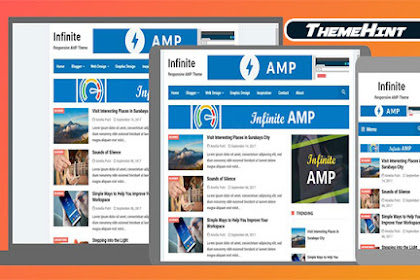 Infinite AMP Premium Blogger Template Free Download by ThemeHint