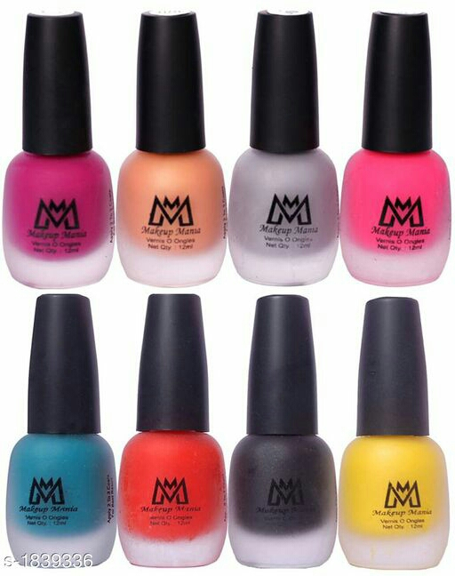 Makeup Mania Premium Nail Polish(Pack of 8)