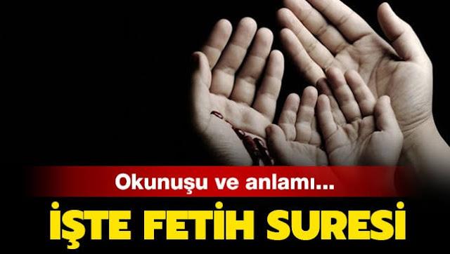 Fetih Suresi Arapça ve Türkçe okunuşu anlamı, Fetih Suresi Dinle