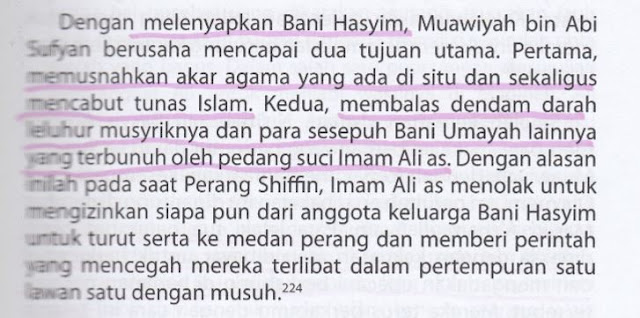 Syiah Menuduh Muawiyah Ingin Memusnahkan Agama Islam