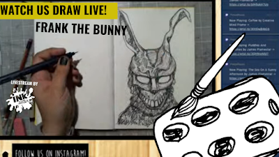 Drawing Frank the Bunny from Donnie Darko! - Come Hang Out!