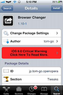 browser changer cydia