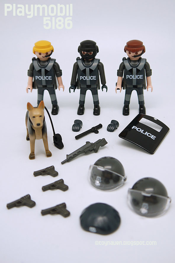 Welp Playmobil 5186 Police Special Forces Unit ~ Robert Downey CH-11