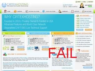 Cirtex Hosting web hosting review