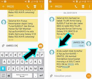 Cara Berhenti Mendapatkan SMS Hadiah dari Axis / XL