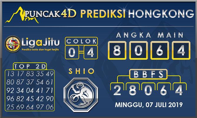 PREDIKSI TOGEL HONGKONG PUNCAK4D 07  JULI 2019