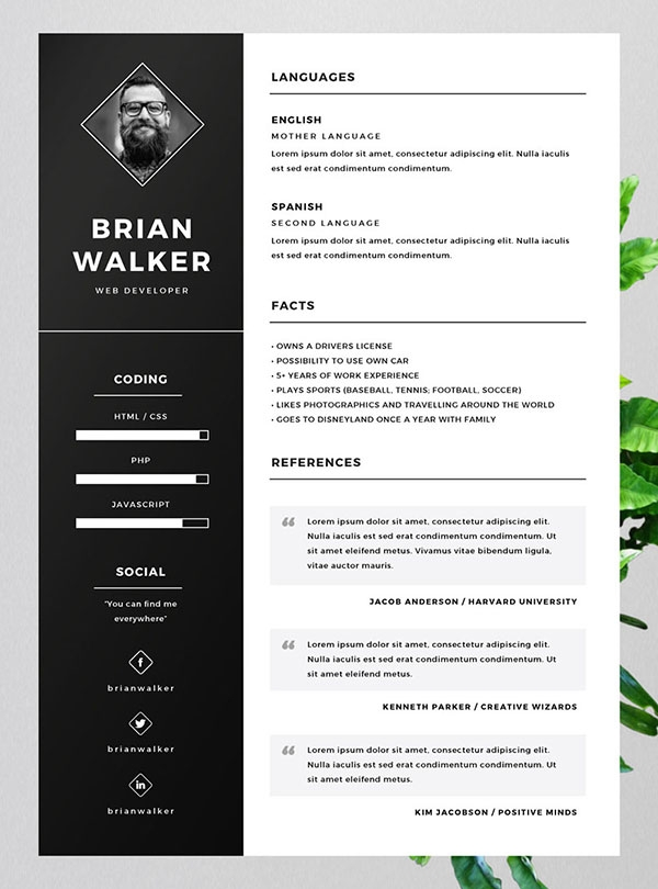 Free Resume Template Designs 2017 - Dadakan