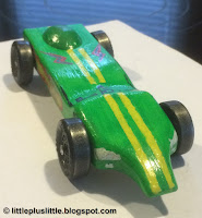 the most colorful Pinewood Derby Car in his Pack