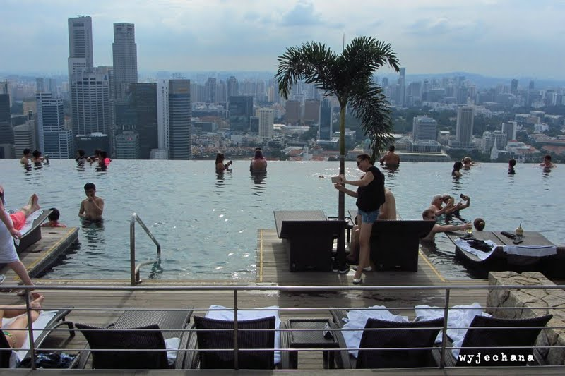 wyjechana marina bay sands i infinity pool w singapurze. Black Bedroom Furniture Sets. Home Design Ideas