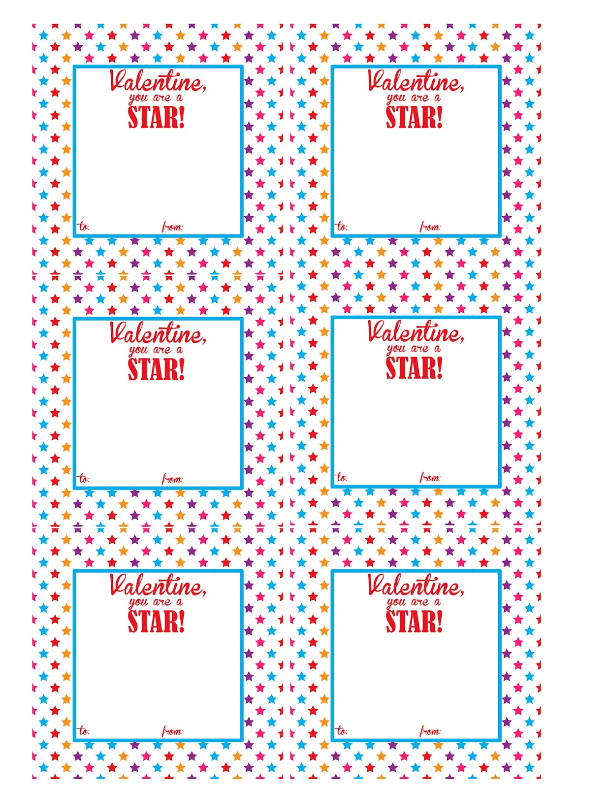 The Larson Lingo Starburst Valentine Ideas Free Printable