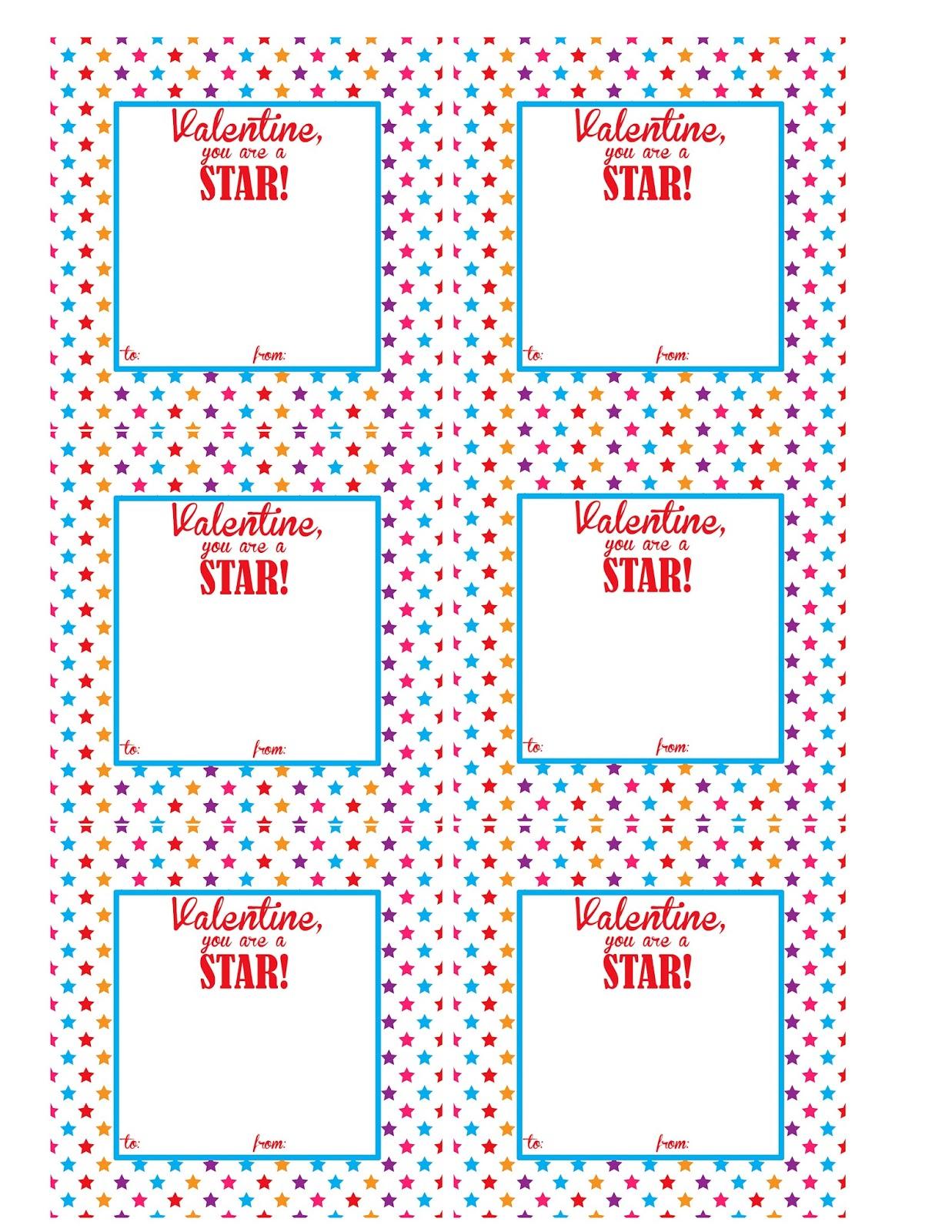 The Larson Lingo Starburst Valentine Ideas Free Printable
