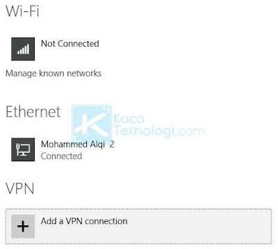 Buka pengaturan Windows dengan mengklik ikon internet di pojok kanan bawah. Klik View Connection Settings. Klik pada adapter yang terhubung.