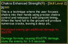 naruto castle defense 6.0 Stunade Chakra Enhanced Strength detail