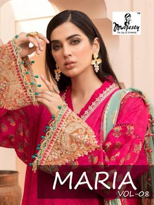 Majesty Maria vol 8 Pakistani Suits wholesaler