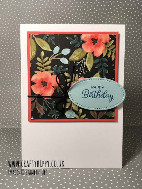 Create a simple card using the Whole Lot of Lovely stamp set by Stampin' Up!