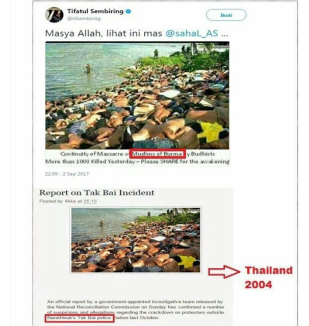 Duh !! Padahal Mantan Menteri, Tifatul Sembiring Sebar Foto Hoax Krisis Rohingya