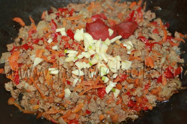 рецепт макарон с фаршем и овощами с пошаговыми фото