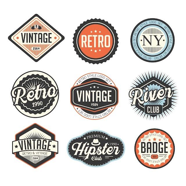 Free Vector Retro Logo Set Template