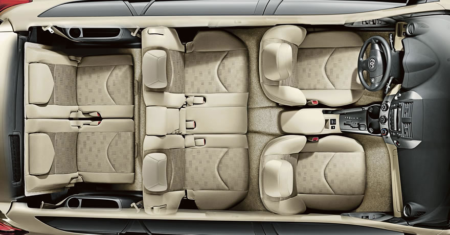 Fabric Trimmed 50 Split Stow 3rd Row Seat With Fold Flat Capability And Adjule Headrests