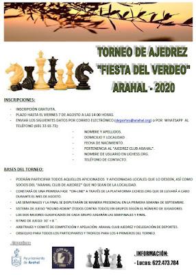 """TORNEO DE AJEDREZ """"FIESTA DEL VERDEO""""."""
